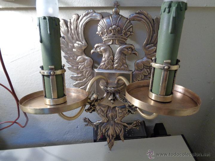 Antigüedades: lamparas apliques epoca franquista - Foto 3 - 53153174
