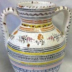 Antigüedades: ANTIGUO JARRÓN EN CERÁMICA DE TOLEDO. Lote 28914439