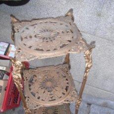 Antigüedades: VELADOR DE HIERRO FUNDIDO. Lote 53154640
