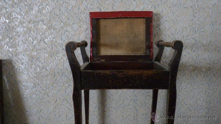 Antigüedades: BANQUETA TAPIZADA. CAJÓN. MADERA EN BUEN ESTADO - Foto 5 - 53156814
