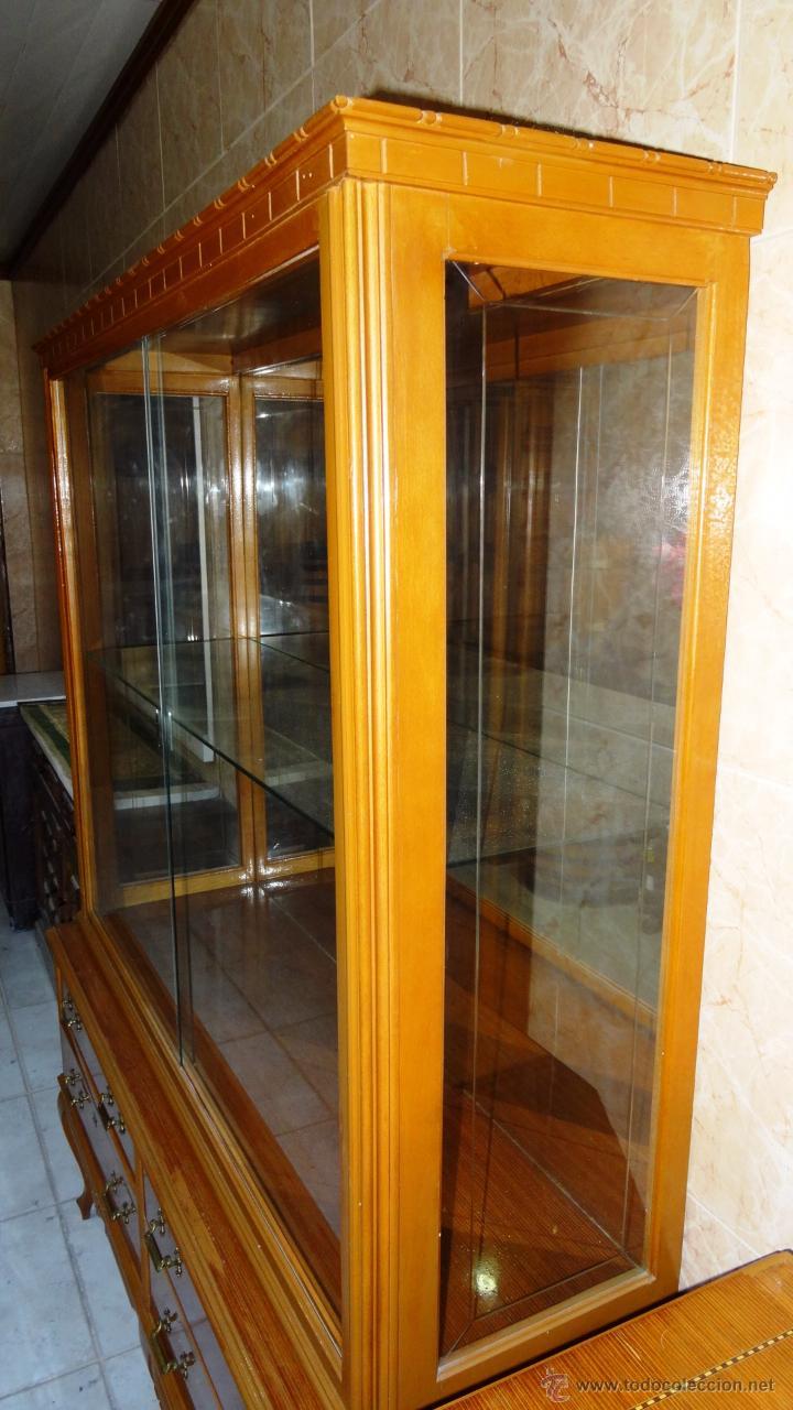 Antigüedades: Conjunto 3 muebles Comoda y vitrina alacena - Foto 4 - 53163795