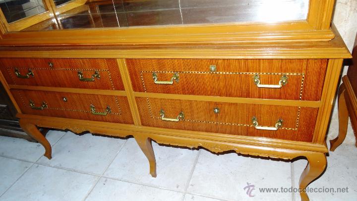 Antigüedades: Conjunto 3 muebles Comoda y vitrina alacena - Foto 5 - 53163795