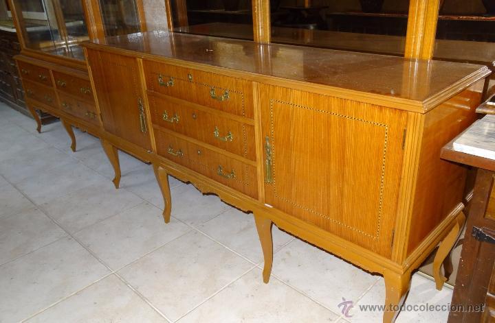 Antigüedades: Conjunto 3 muebles Comoda y vitrina alacena - Foto 6 - 53163795