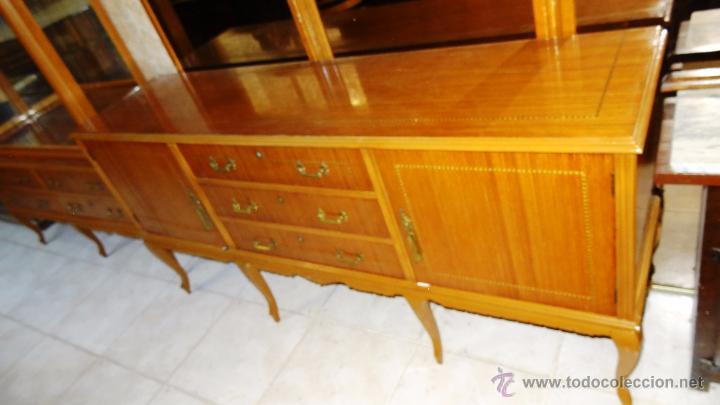 Antigüedades: Conjunto 3 muebles Comoda y vitrina alacena - Foto 7 - 53163795