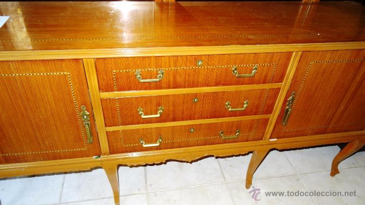 Antigüedades: Conjunto 3 muebles Comoda y vitrina alacena - Foto 8 - 53163795