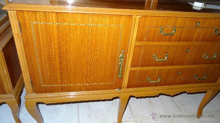 Antigüedades: Conjunto 3 muebles Comoda y vitrina alacena - Foto 9 - 53163795