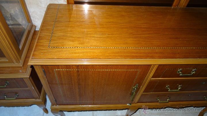 Antigüedades: Conjunto 3 muebles Comoda y vitrina alacena - Foto 10 - 53163795