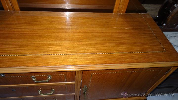 Antigüedades: Conjunto 3 muebles Comoda y vitrina alacena - Foto 11 - 53163795