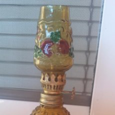 Antigüedades: ANTIGUO QUINQUE DE CRISTAL. Lote 53168932