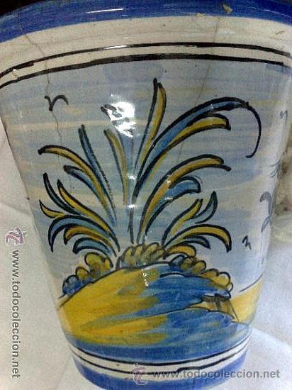 Antigüedades: PEQUEÑO MACETERO EN CERÁMICA DE TALAVERA. MARCAS DE NIVEIRO. - Foto 10 - 28931038