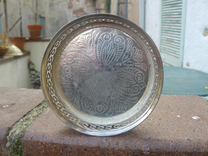 Antiquitäten: ANTIGUO REPOSABOTELLAS DE METAL - Foto 3 - 53179425