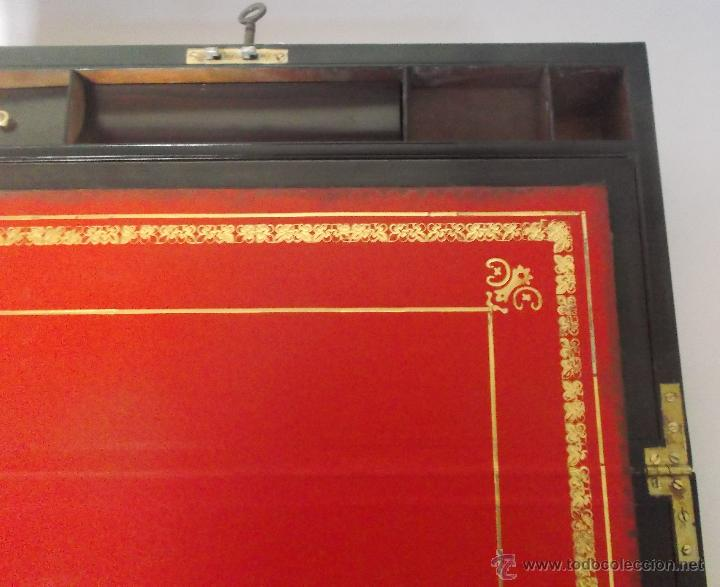 Antigüedades: Escritorio portatil inglés S.XIX de Palorosa y Latón - Foto 5 - 53181850