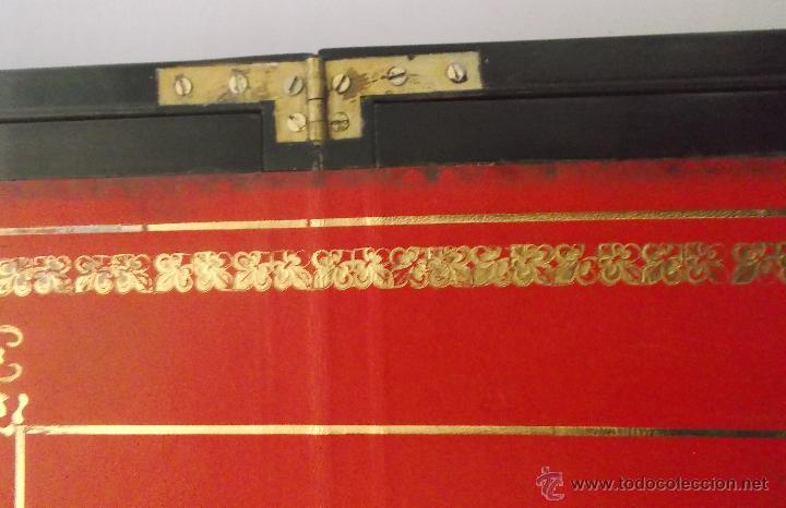 Antigüedades: Escritorio portatil inglés S.XIX de Palorosa y Latón - Foto 6 - 53181850