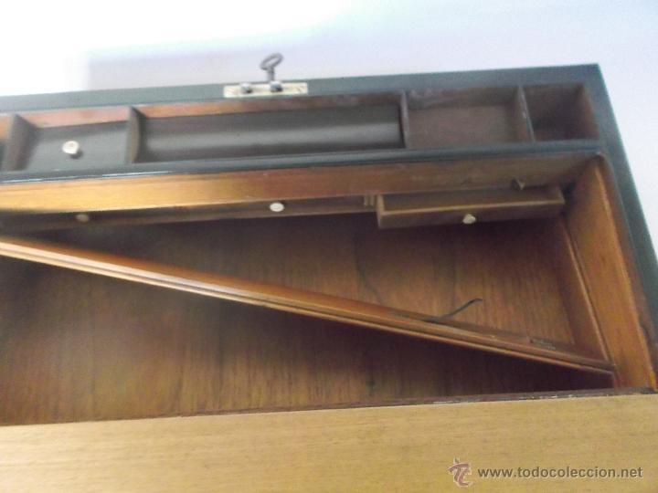 Antigüedades: Escritorio portatil inglés S.XIX de Palorosa y Latón - Foto 11 - 53181850