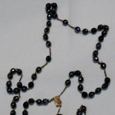 Antigüedades: ANTIGUO ROSARIO CUENTAS CRISTAL. Lote 53182393