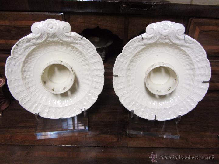 PAREJA DE MANCERINAS DE ALCORA (Antigüedades - Porcelanas y Cerámicas - Alcora)