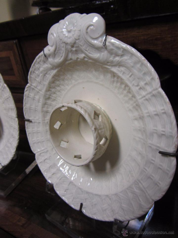 Antigüedades: Pareja de Mancerinas de Alcora - Foto 5 - 53184136