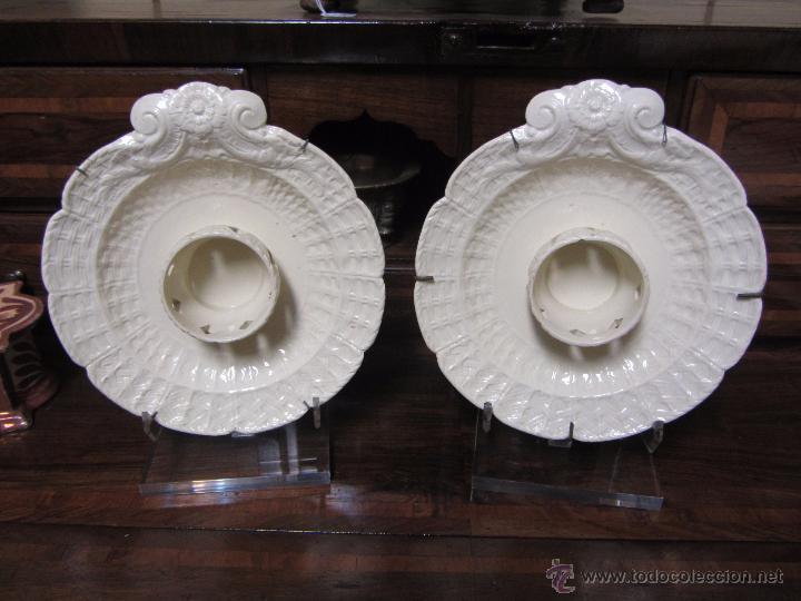 Antigüedades: Pareja de Mancerinas de Alcora - Foto 10 - 53184136