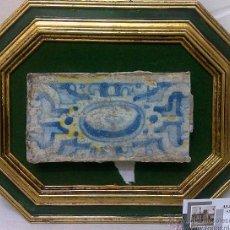 Antigüedades: SIGLO XVII-XIX. PEQUEÑO AZULEJO DE ÉPOCA, ENMARCADO.. Lote 29723642