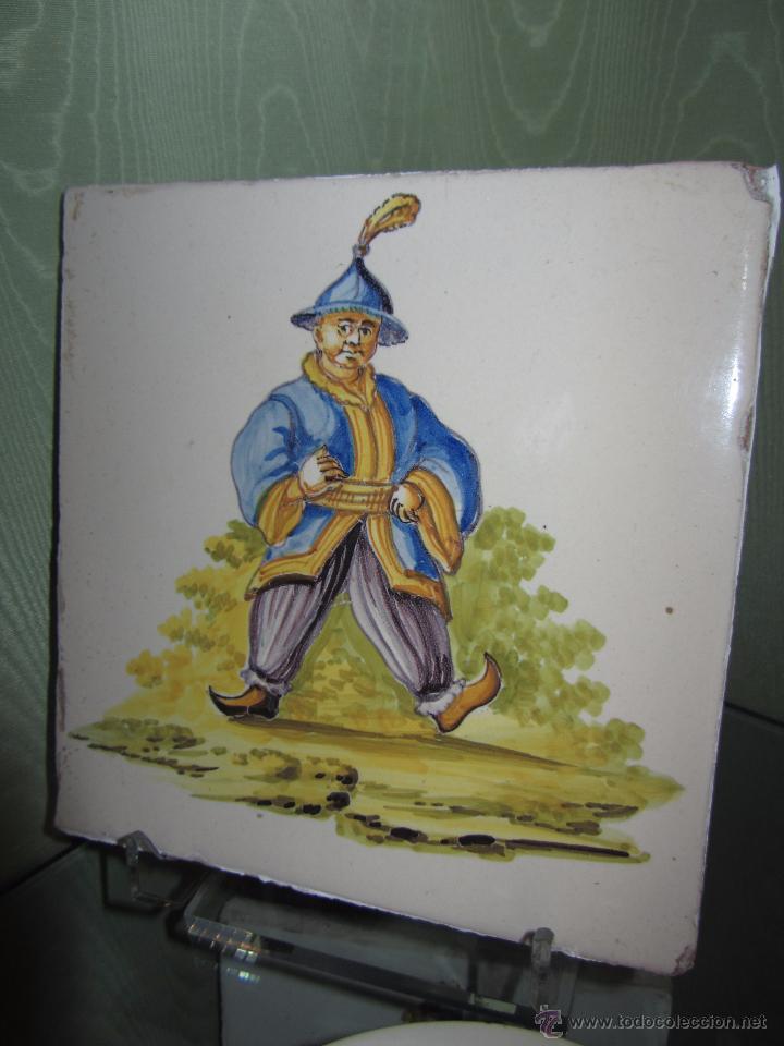 ESPECTACULAR AZULEJO VALENCIANO XIX - ALCORA (Antigüedades - Porcelanas y Cerámicas - Alcora)
