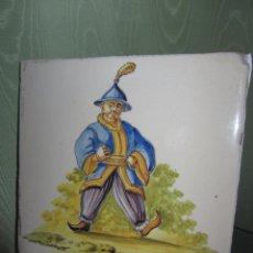 Antigüedades: ESPECTACULAR AZULEJO VALENCIANO XIX - ALCORA. Lote 53191949
