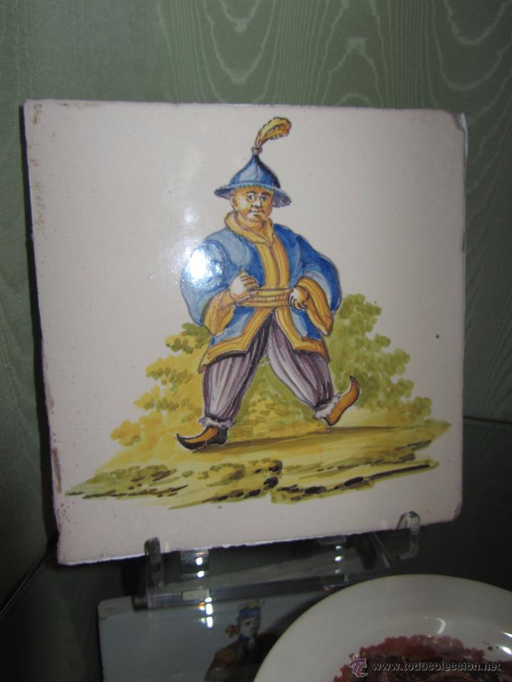 Antigüedades: Espectacular Azulejo Valenciano XIX - Alcora - Foto 2 - 53191949