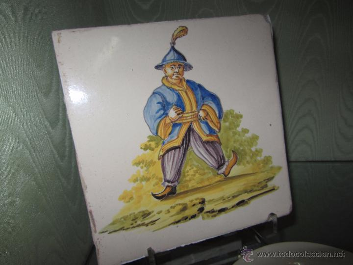 Antigüedades: Espectacular Azulejo Valenciano XIX - Alcora - Foto 3 - 53191949