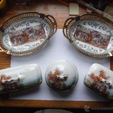 Antigüedades: LOTE DE 4 PIEZAS DE PORCELANA.. Lote 53197222