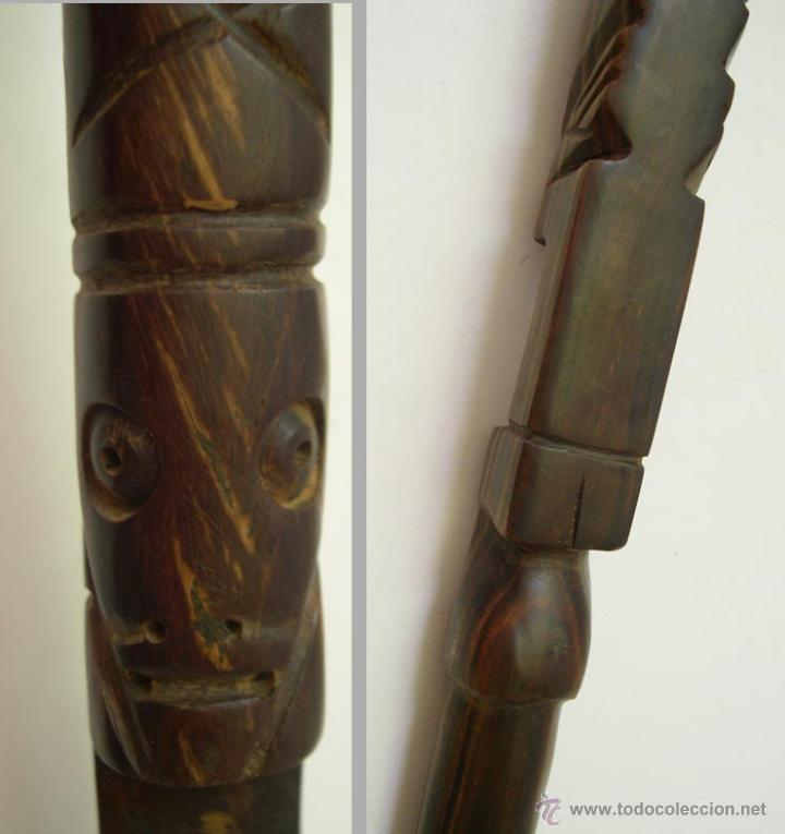Antigüedades: BASTON EN MADERA DE EBANO. - Foto 2 - 53203018