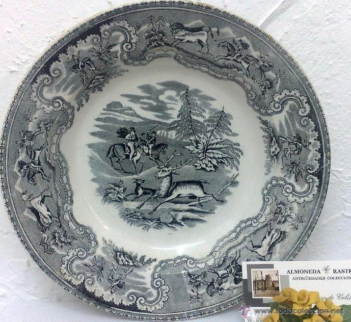 SIGLO XIX.-PLATO EN LOZA, FABRICA DE LA AMISTAD. (Antigüedades - Porcelanas y Cerámicas - Cartagena)