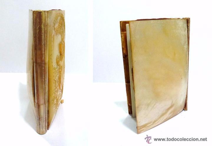 Antigüedades: ANTIGUO CARNET DE BAILE RELIEVE TALLADO EN NACAR - FRANCIA SIGLO XIX - Foto 7 - 52751110