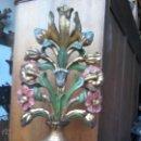 Antigüedades: GRAN PIEZA FLORERO DE MADERA.. Lote 53219417