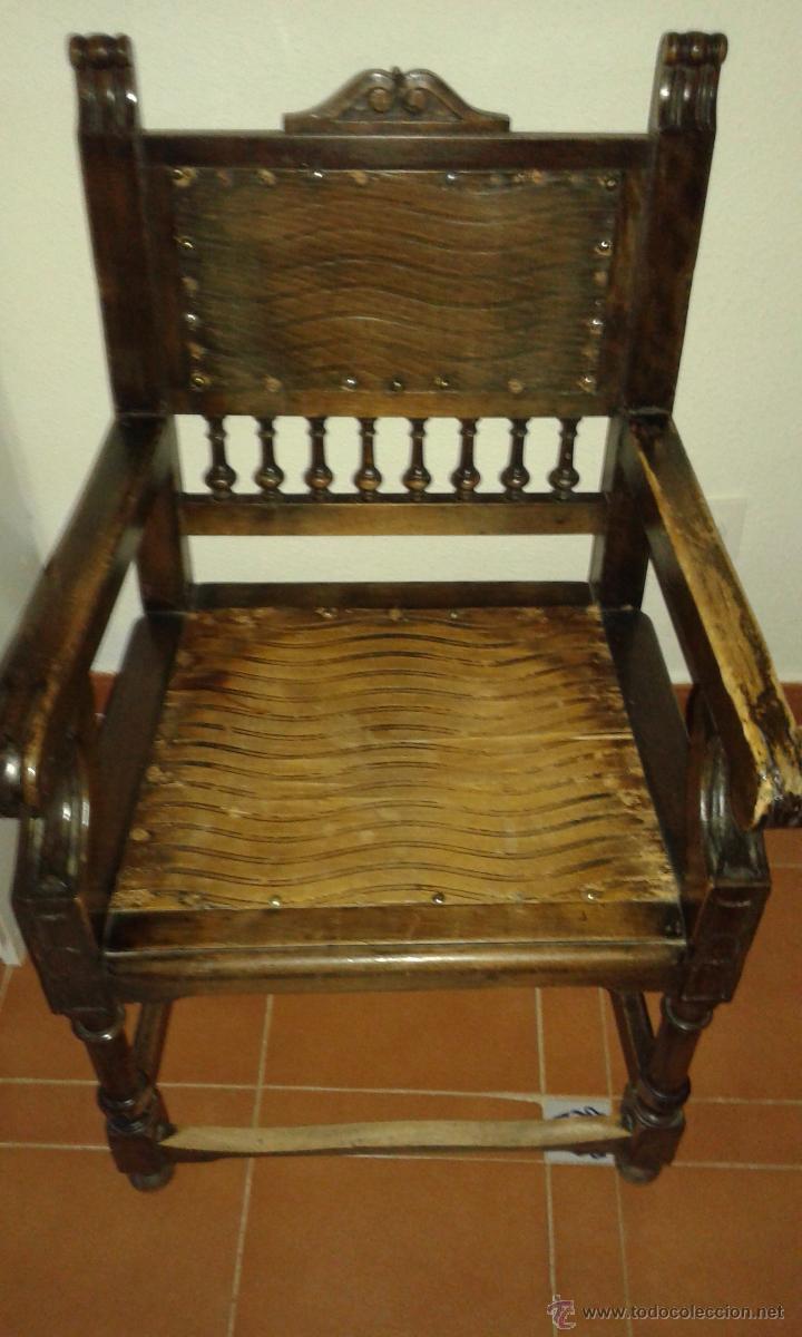 Sillon antiguo de madera para restaurar comprar sillones for Restaurar muebles antiguos