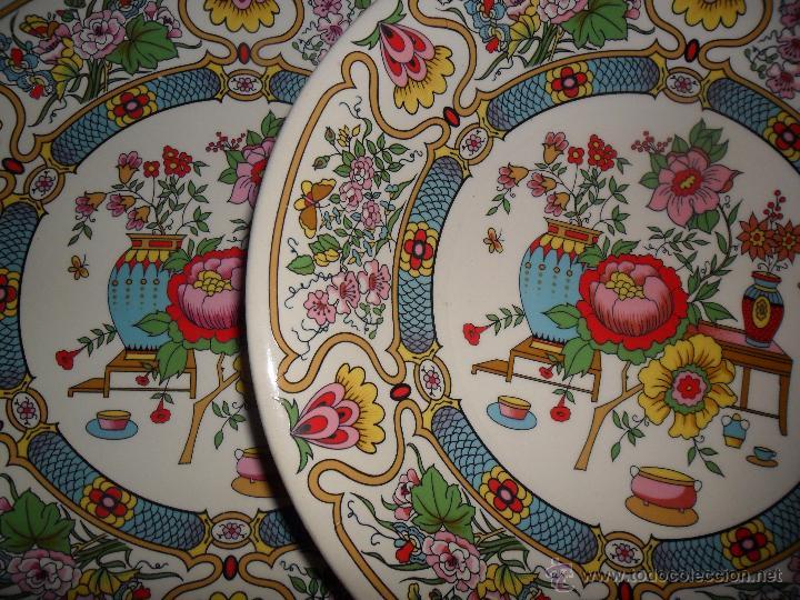 PAREJA PLATOS MODERNISTAS (Antigüedades - Porcelanas y Cerámicas - Otras)