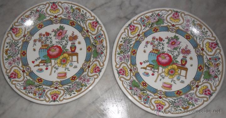 Antigüedades: Pareja platos modernistas - Foto 2 - 53225683