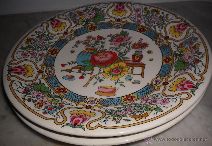 Antigüedades: Pareja platos modernistas - Foto 3 - 53225683