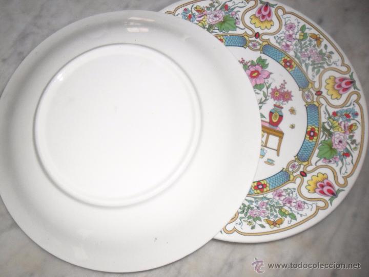 Antigüedades: Pareja platos modernistas - Foto 4 - 53225683