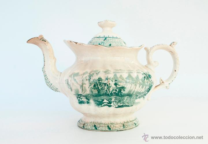 ANTIGUA TETERA MARCA PICKMAN. 1ª ÉPOCA, MEDIADOS S. XIX (Antigüedades - Porcelanas y Cerámicas - Inglesa, Bristol y Otros)