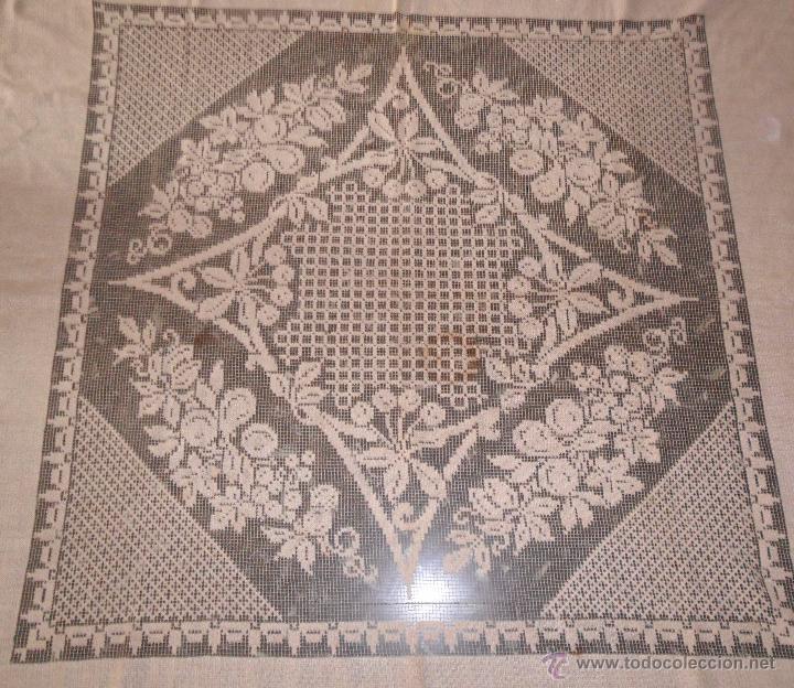 Antigüedades: Manteleria en encaje de red: mantel y servilletas - Foto 4 - 171159732