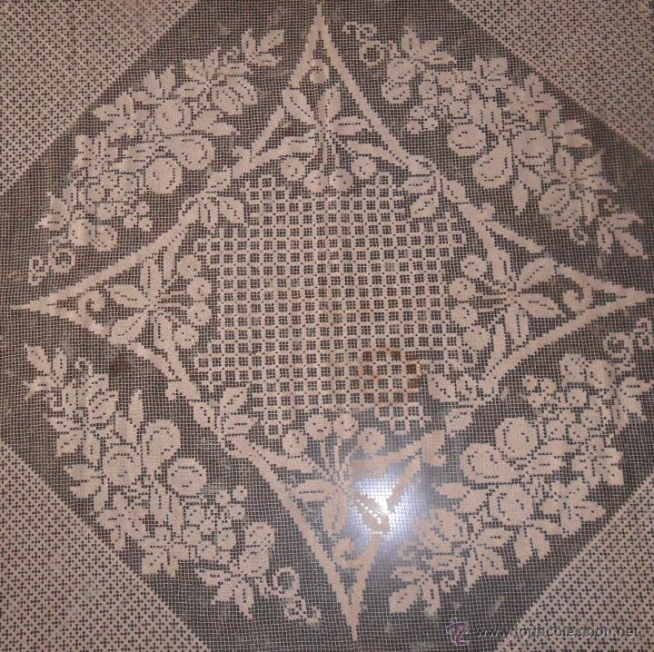 Antigüedades: Manteleria en encaje de red: mantel y servilletas - Foto 5 - 171159732