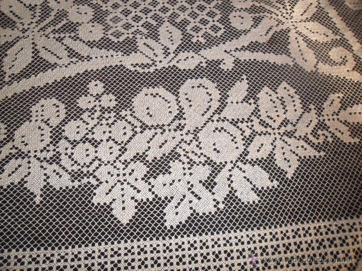 Antigüedades: Manteleria en encaje de red: mantel y servilletas - Foto 8 - 171159732