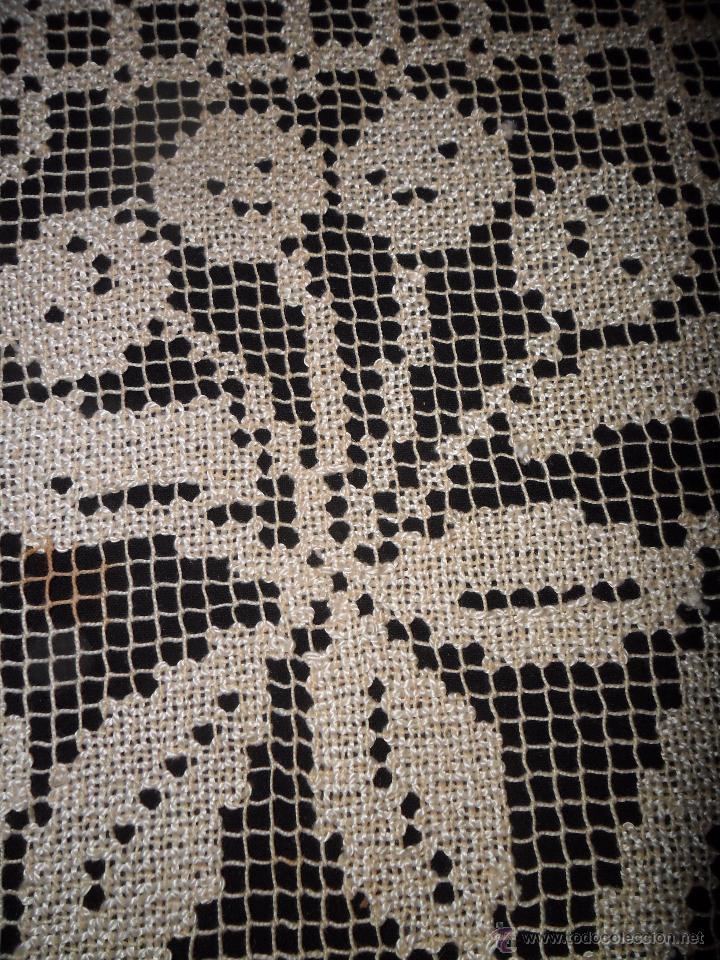 Antigüedades: Manteleria en encaje de red: mantel y servilletas - Foto 10 - 171159732
