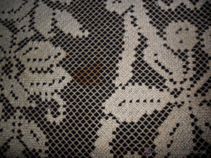 Antigüedades: Manteleria en encaje de red: mantel y servilletas - Foto 14 - 171159732