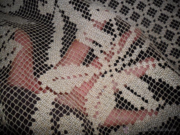 Antigüedades: Manteleria en encaje de red: mantel y servilletas - Foto 15 - 171159732