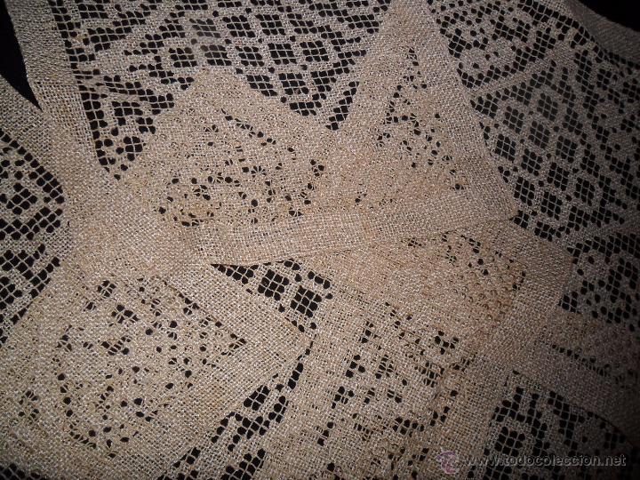 Antigüedades: Manteleria en encaje de red: mantel y servilletas - Foto 16 - 171159732
