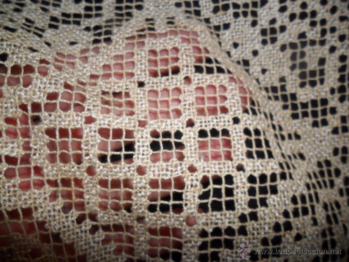 Antigüedades: Manteleria en encaje de red: mantel y servilletas - Foto 20 - 171159732