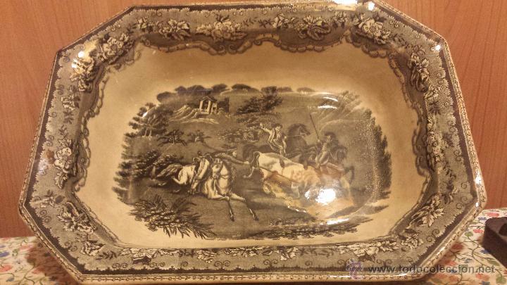 ANTIGUA ENSALADERA DE CARTAGENA, SELLO TINTA E INCISO (Antigüedades - Porcelanas y Cerámicas - Cartagena)