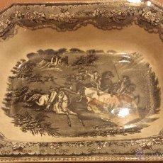 Antigüedades: ANTIGUA ENSALADERA DE CARTAGENA, SELLO TINTA E INCISO. Lote 53243930