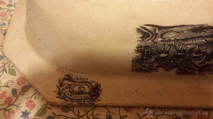 Antigüedades: antigua ensaladera de cartagena, sello tinta e inciso - Foto 7 - 53243930