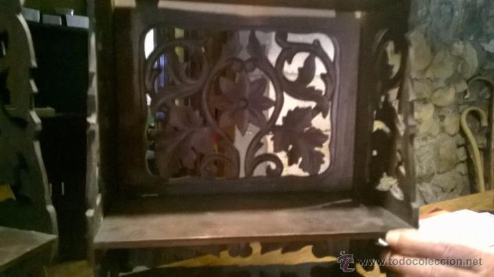 Antigüedades: Pareja antiguas , mensula, peana, plegables - Foto 6 - 53251588